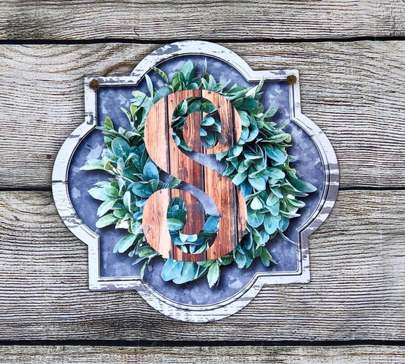 Personalized Last Name Initial Door Hanger or Wall Sign