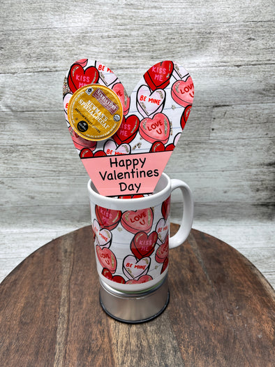 Candy Heart Valentine Mug Coffee Pod Holder
