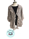 Leopard Cardigan with Ruffle Trim