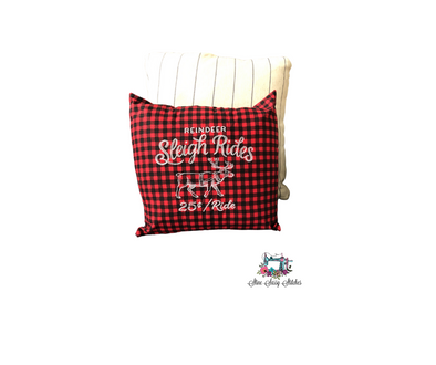 Reindeer Sleigh Rides Red Buffalo Plaid