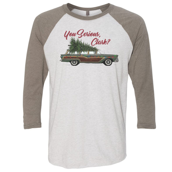 Christmas Raglan T-shirt You Serious Clark