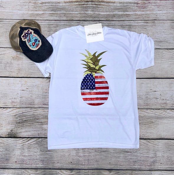 Patritoic Pineapple  Short Sleeve T-Shirt