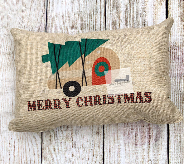 Christmas Camper Pillow