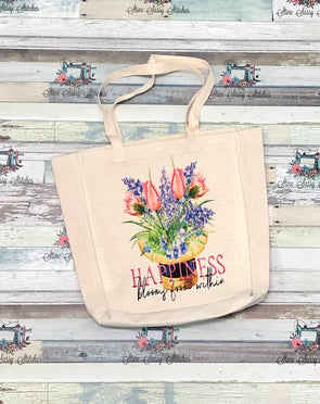 Tulip Linen Shopping Tote