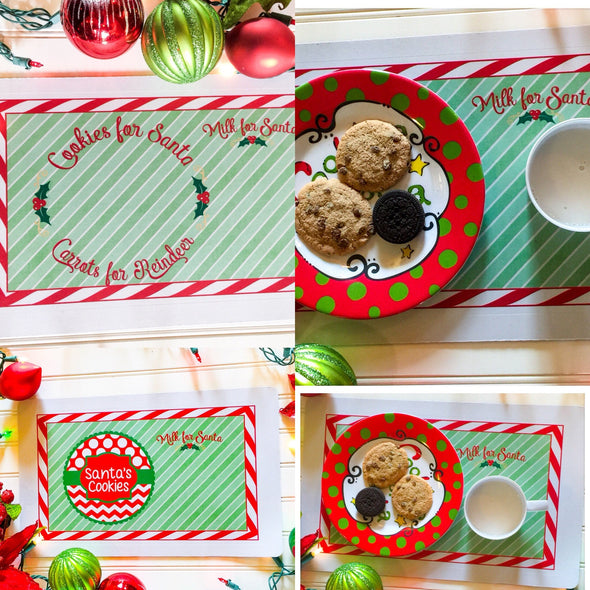 Santa Christmas Placemat - Cookies for Santa gift for kids placemat