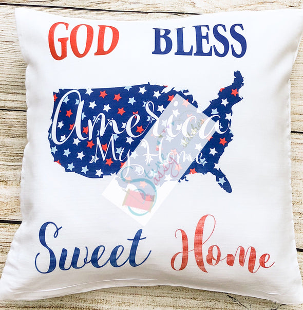 America Home Sweet Home Pillow cover Throw Pillow cover