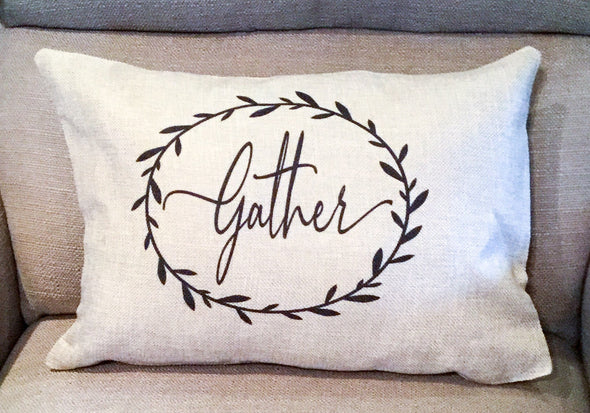Rustic Home Decor  Burlap Gather 12x18 Simplistic style