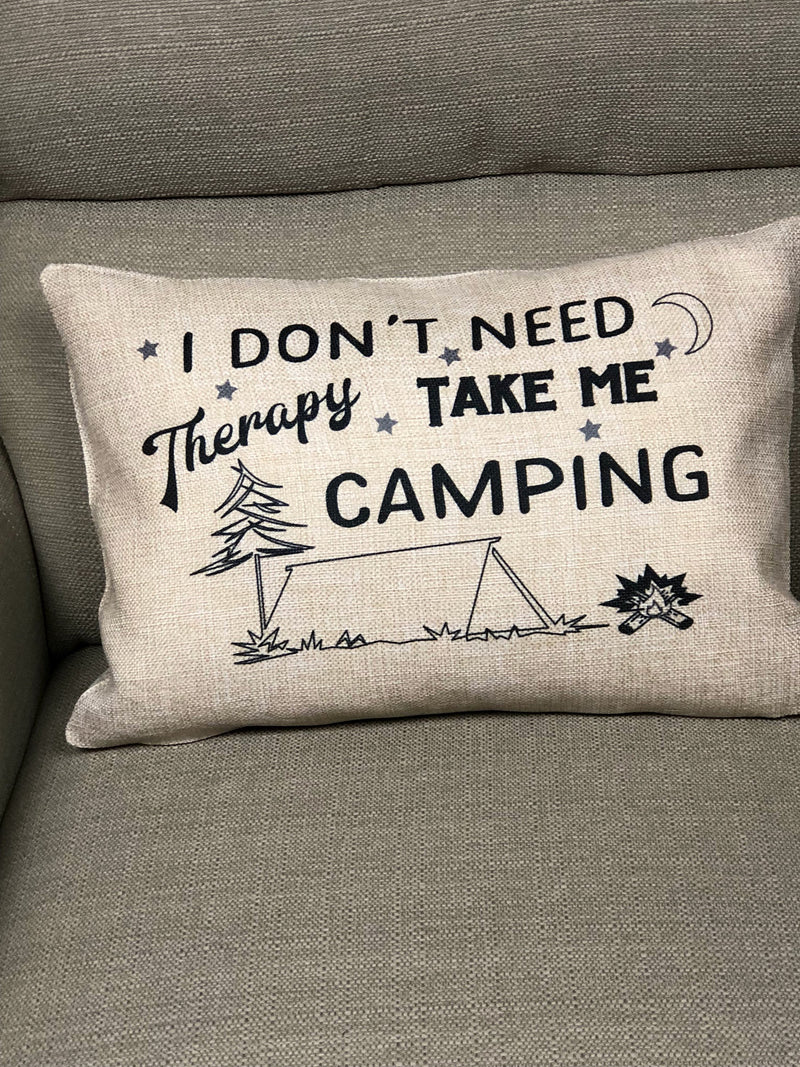 Tent Camping Therapy Pillow Cover