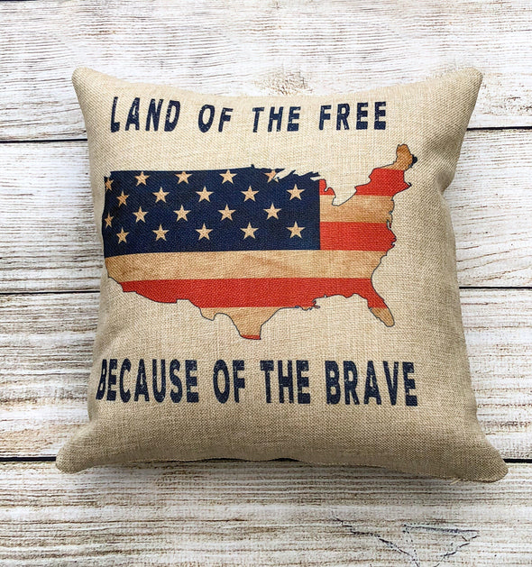Patriotic Land of the Free  Pillow Cover