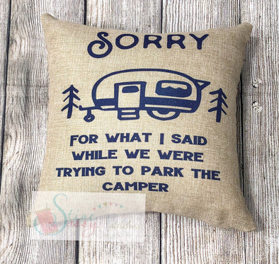 Camping Pillow decorative throw Pillow Cover