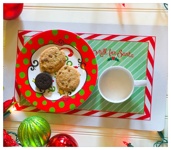 Cookies and Milk for Santa  Placemat