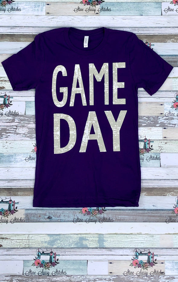 Purple Game Day Shirt Football tailgate T-shirt UNISEX