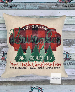 Christmas Pillow Kringle's  Tree Farm Linen