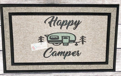 Happy Camper Outdoor Mat Camping Decor