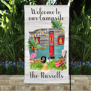 Welcome to Our Campsite Garden Flag
