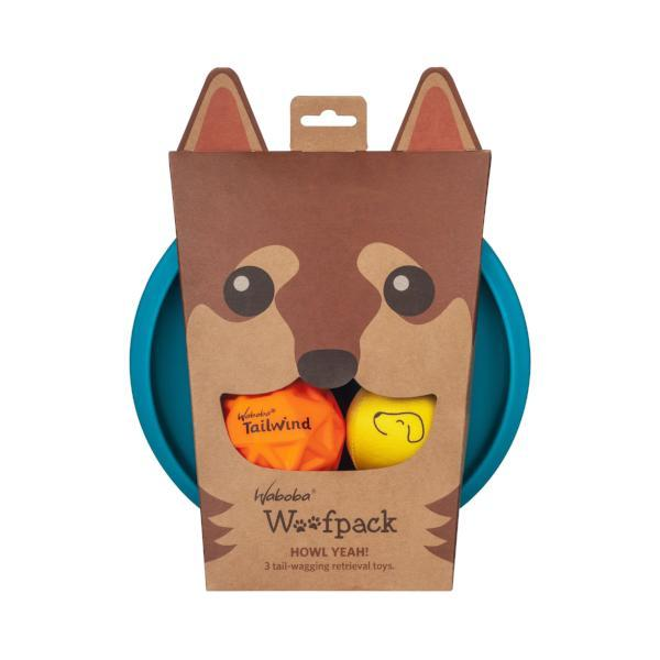 Enjoy Dog toys with Waboba's Woofpack