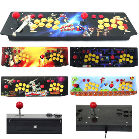 RAC-J500T 2 Players Double USB Arcade Joystick For PC Artwork Panel Metal Case