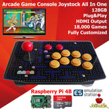 Retro Arcade Game Console Joystick 128G Artwork Panel Raspberry PI 4 Model B 4GB