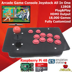 Retro Arcade Game Console Joystick 128G Plug Play Raspberry PI 4 Model B 4GB