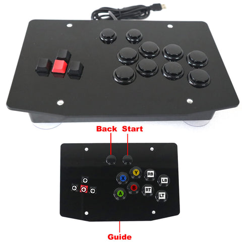 RAC-J500K-X360 All Buttons Arcade Joystick Game Controller For XBOX 360/PC