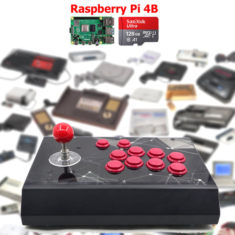 RAC-S400 Retro Arcade Game Console Raspberry PI 4 Model B 4GB 128G