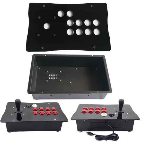 DIY Happ Competition Arcade Fight Stick Joystick Metal Case and Acrylic Panel Big Size