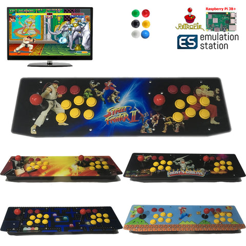 TableTop Arcade Raspberry Pi B+ Retro Game Console Artwork Panel Two Players