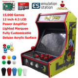 Mini Bartop Arcade Game Machine Cabinet Raspberry Pi B+ 128GB Pac-Man