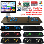 TableTop Arcade Retro Game Console Raspberry Pi 3B+ Acrylic Panel Metal Case 64G