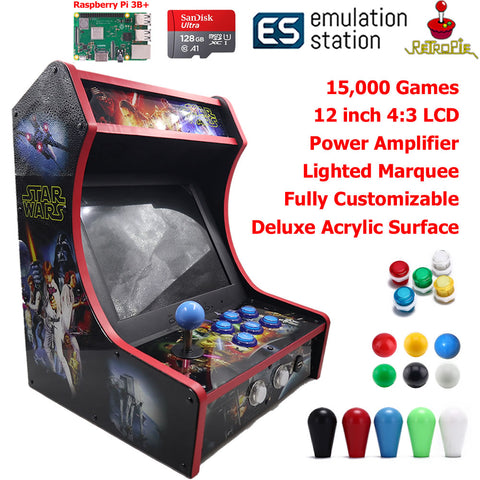 Mini Bartop Arcade Game Machine Cabinet Raspberry Pi B+ 128GB Star Wars