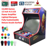Mini Bartop Arcade Game Machine Cabinet Raspberry Pi B+ 128GB Street Fighter
