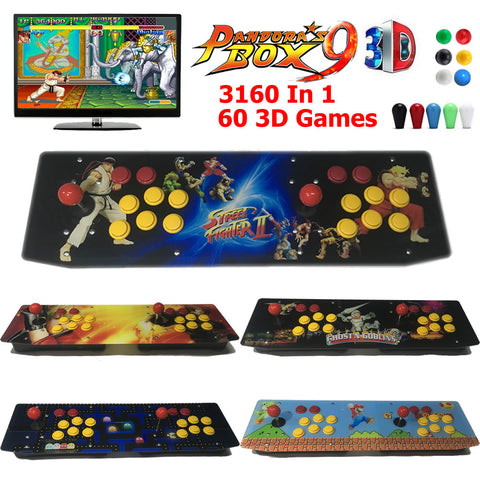 Pandora Box 9S 3D 3160 Games Retro Video Game Arcade Console Artwork Panel