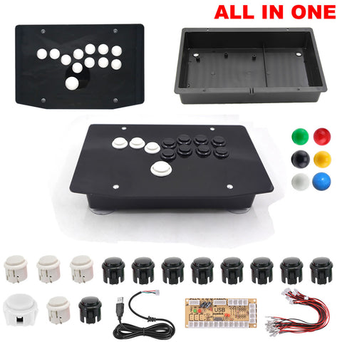 DIY Hitbox Joystick All Button Fighting Game Controllers Kit Panel Case Buttons Encoder
