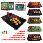 Retro Arcade Game Console Fight Stick All In One 128G Raspberry Pi 3B+