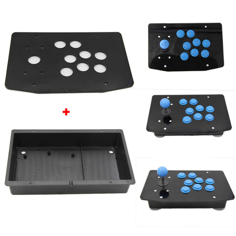 DIY Arcade Joystick Kits Part 8 Buttons Arcade Joystick Acrylic Panel and Case