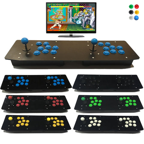 Fully Customized Acrylic 2 Players Double Arcade Joystick USB Wired Controller For PC Computer
