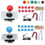 2 Player DIY Arcade Joystick Kit 5Pin Cable 24/30mm Buttons USB Encoder