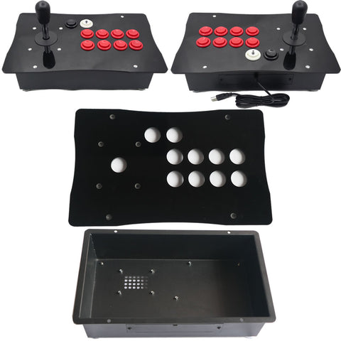 DIY American Style Arcade Fight Stick Joystick Metal Case and Acrylic Panel Big Size