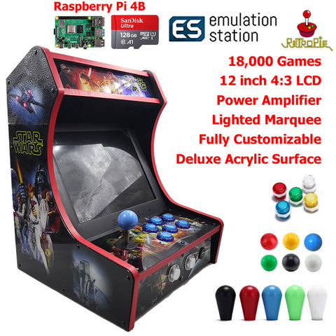Mini Bartop Arcade Game Machine Raspberry PI 4 Model B 4GB 128G Star Wars
