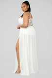 More Crochet Maxi Dress - White