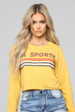 Sporty Babe Top - Mustard