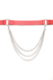 Chain Hang Low Belt - Red