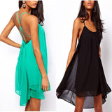 Women's Halter Sling Chiffon Beach Dress
