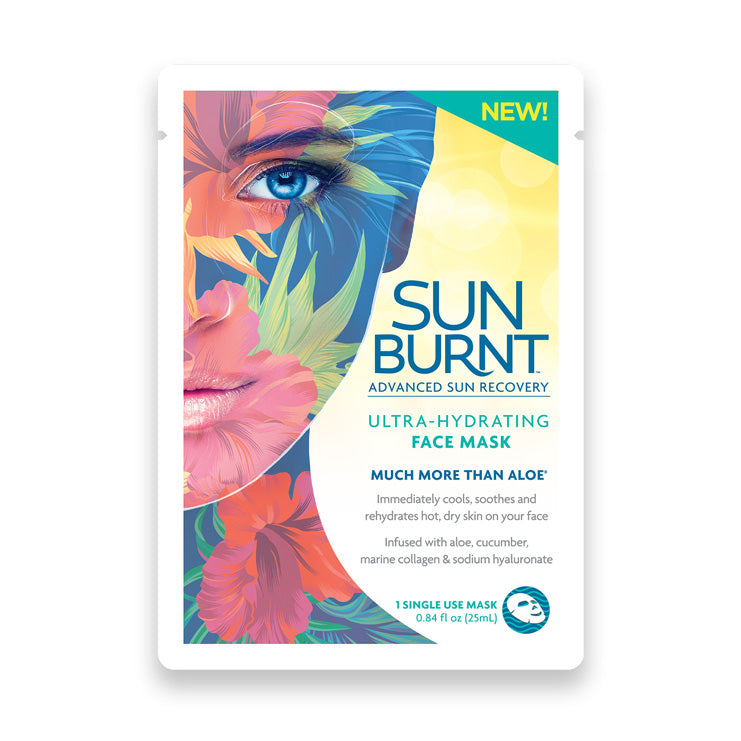SunBurnt Ultra-Hydrating Facial Sheet Mask, 4-pack