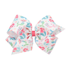 Load image into Gallery viewer, Mermaid Print Bow by WeeOnes