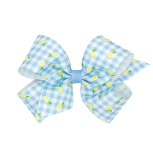 Gingham Fruit Hairbows (Lemon & Strawberry)