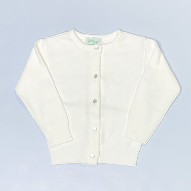 Girls White Cardigan by Julius Berger
