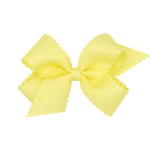 Load image into Gallery viewer, Scallop Edge Grosgrain Hairbow (More Colors)