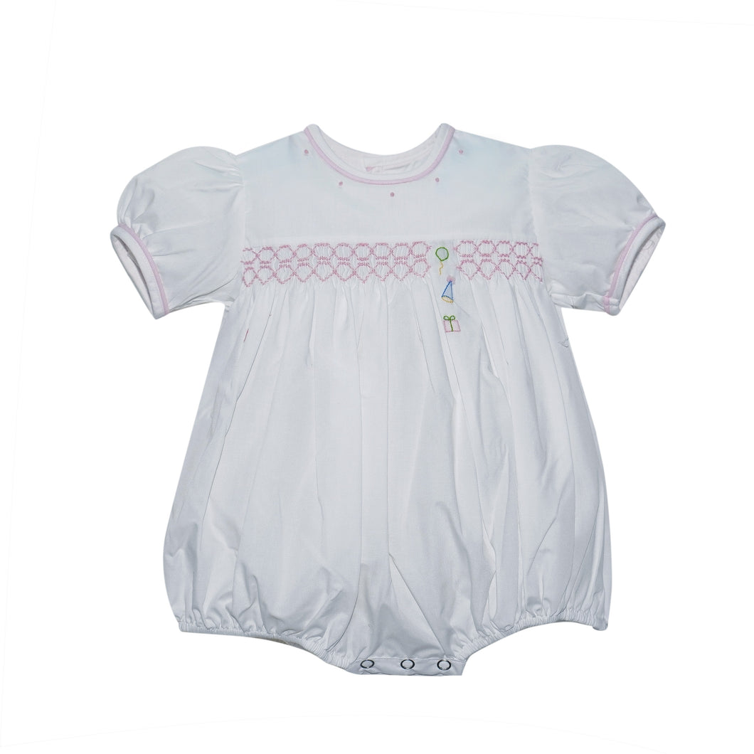 Smocked Girls Birthday Bubble by Lullaby Set