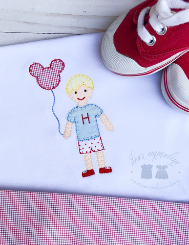 Boy Balloon Applique Shirt